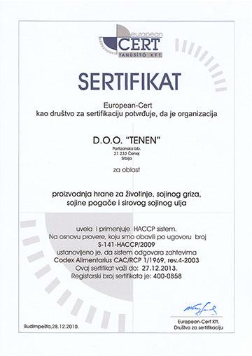 tenen-sertifikat